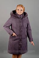 Женское плащевое пальто по 60й размер, фото 1