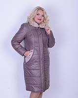 Зимнее плащевое пальто ботал, 50-60рр , фото 1