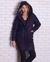 Женская зимняя куртка -кокон  44-52рр , фото 1