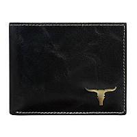Мужское кожаное портмоне RM-05-BAW Black, фото 1