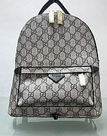 Сумка рюкзак Gucci бежевый в логотипах, фото 1