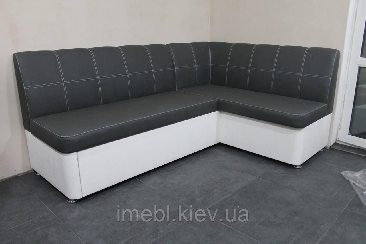 Раскладной кухонный диван в кожзаме