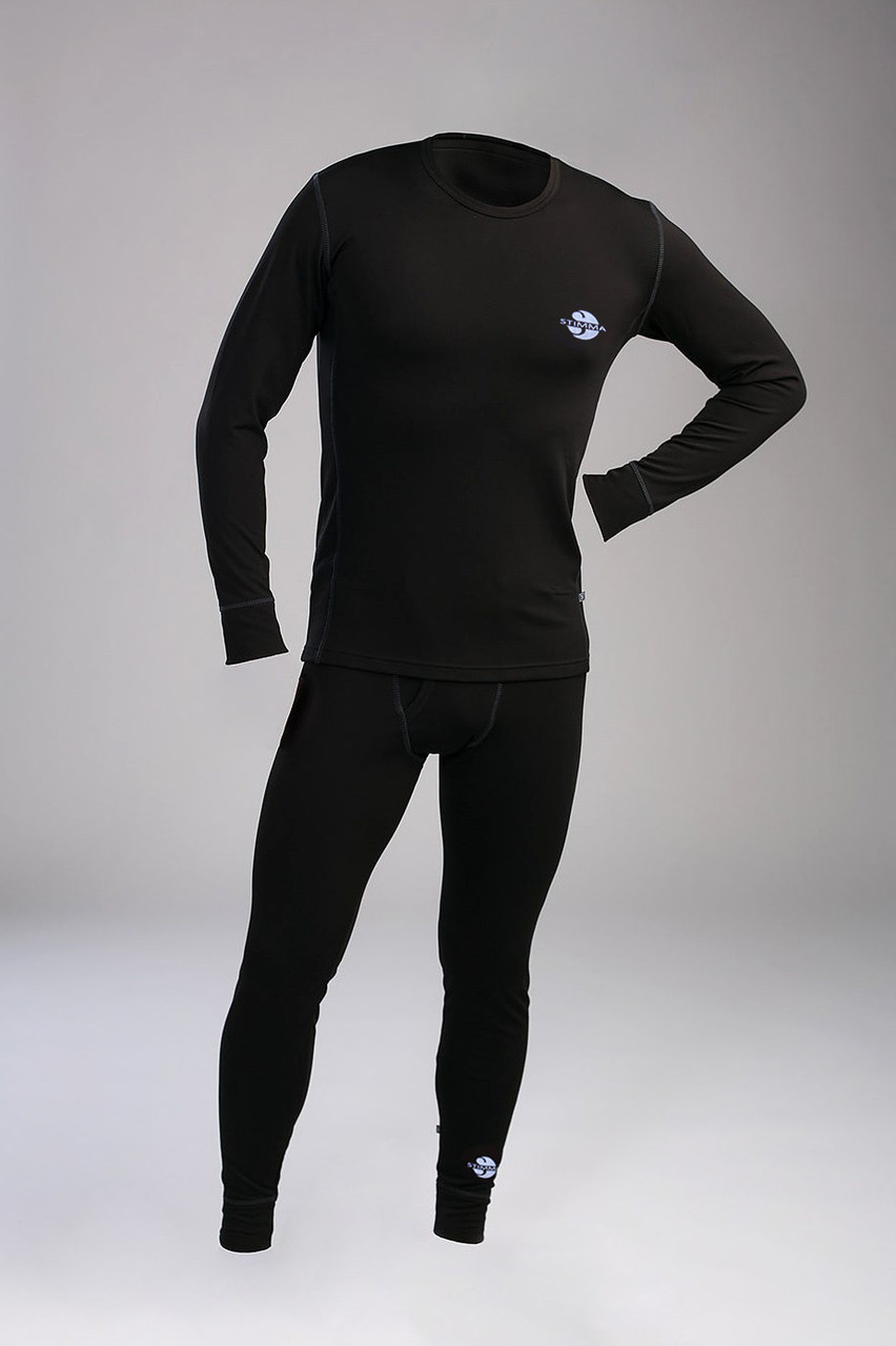 Теплое мужское термобелье  в черном цвете