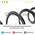 Спираль для трубы диам. 75 мм. (шнек для поперечной линии) Турция 61,2 мм., фото 4