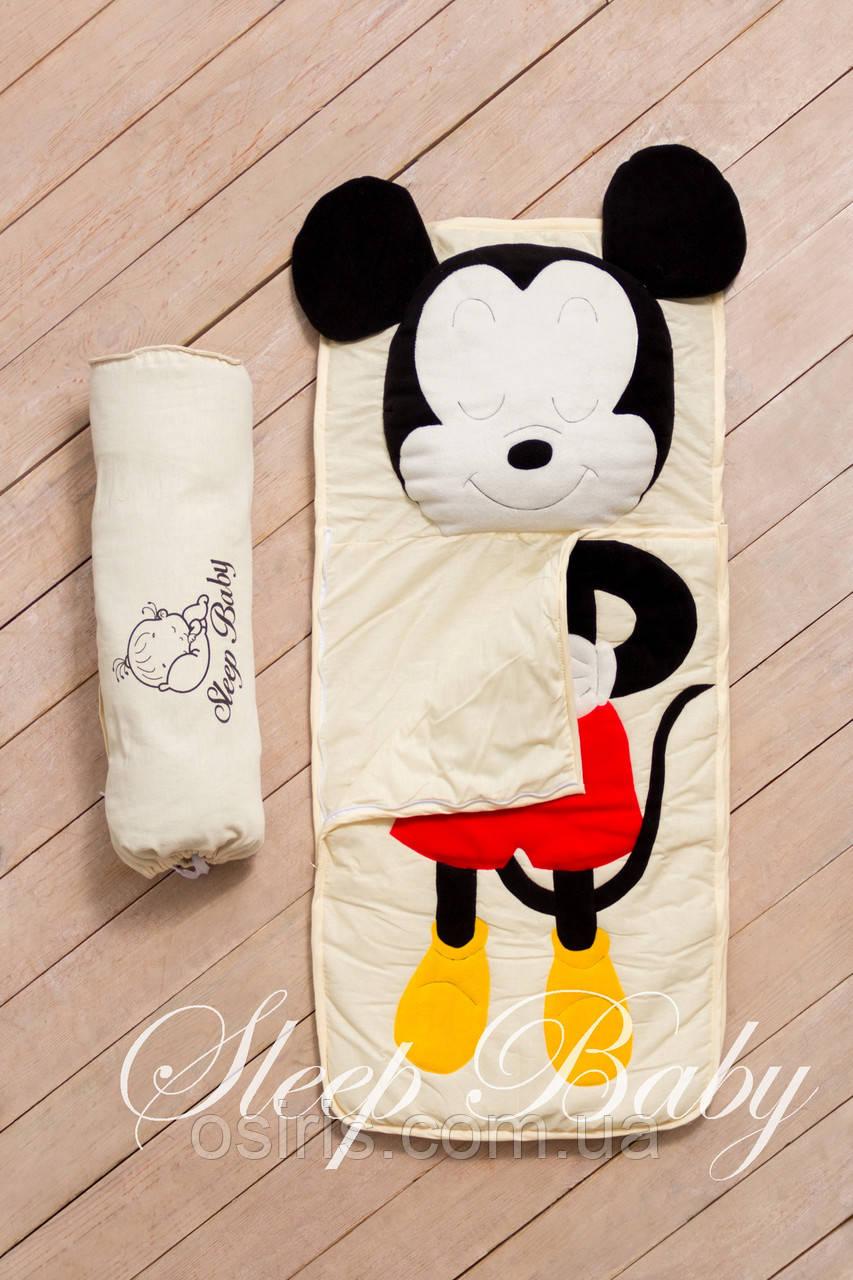 """Слипик - спальный мешок / спальник для сна детский неразъемный """"Микки"""""""