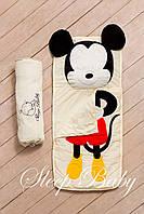 """Слипик - спальный мешок / спальник для сна детский неразъемный """"Микки"""", фото 1"""
