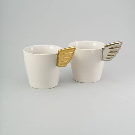 "Набор чашек ""silver & gold"" 2 шт Herisson (EZ-2311), фото 2"