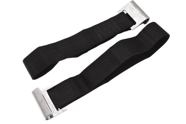 Ремень с плоским крюком усиленный( нержавейка) для натяжки боковых штор полуприцепа