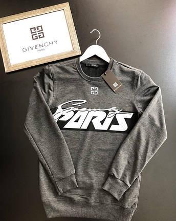 Молодежный свитшот Givenchy темно-серого цвета топ реплика, фото 2