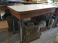 Кухонний стіл на хром ногах з шухлядою