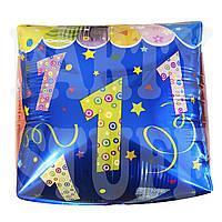 Фольгированный шар 18' КитайЦифра 1 кубик, 45 см, фото 1
