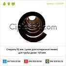 Спираль для трубы диам. 125 мм. (шнек для поперечной линии) Турция 92 мм., фото 4