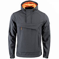Куртка анорак M-Tac Fighter Soft Shell серый/оранжевый