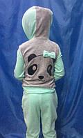 Детский велюровый спортивный костюм Панда, фото 1