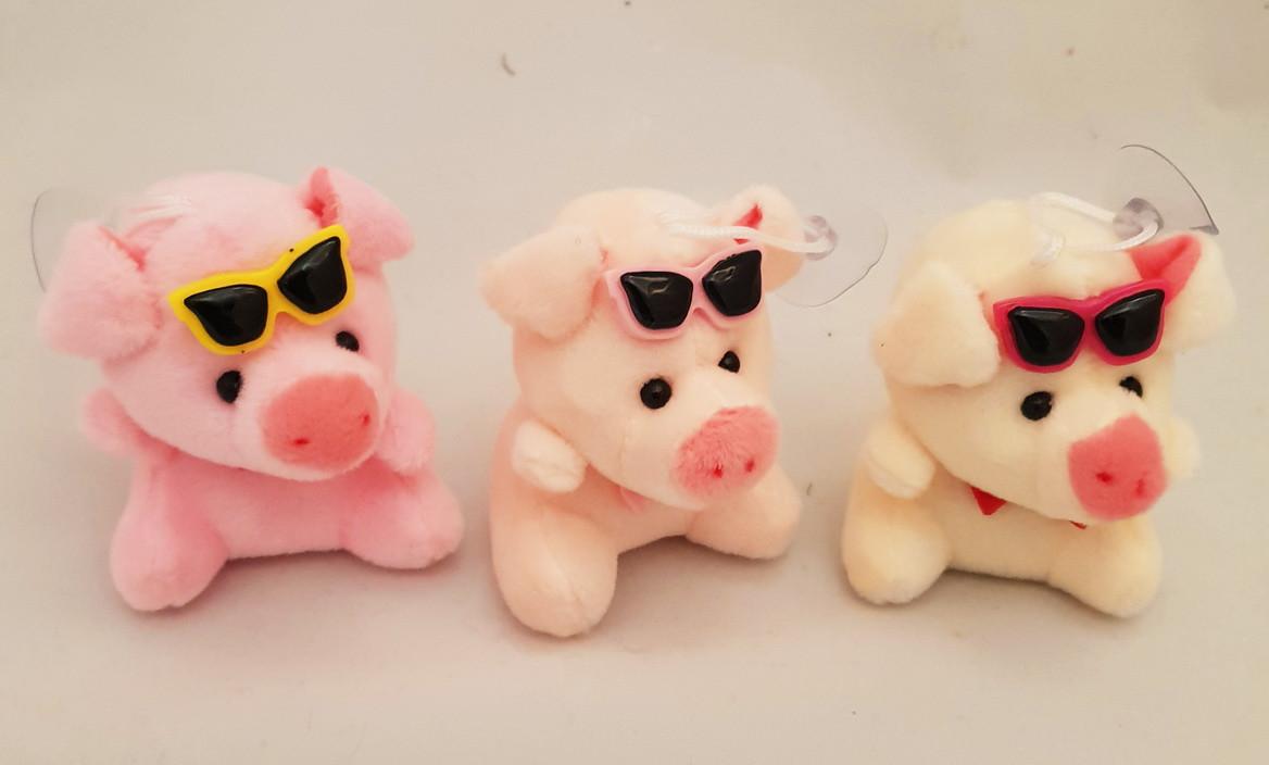 Свинка на присоске 8 см