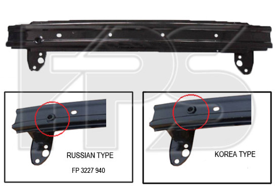 Шина переднего бампера Hyundai Accent (Solaris) 11- (FPS) 865304L000