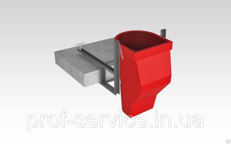 Гаситель скорости с комплектующими  (цепи, карабины) для строительного мусоросброса