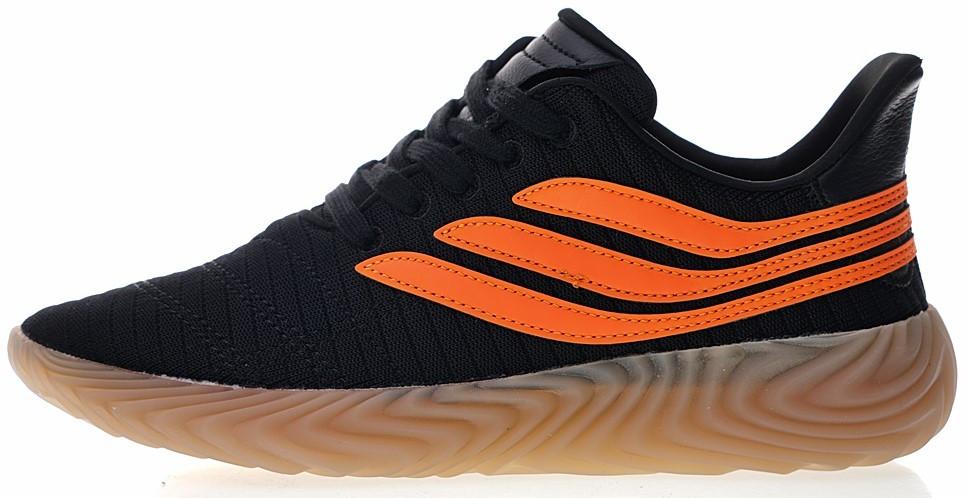 """Мужскиекроссовки adidas Sobakov """"Black/Orange"""" (Адидас) черные"""