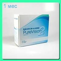 Контактные линзы Pure Vision 2 Toric (3+1) 783 грн