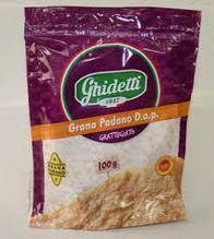 Сыр Грано Падано тертый 100г 32% Ghidetti