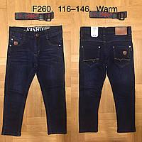 Джинсы утепленные для мальчика оптом, F&D, 116-146 см,  № F260, фото 1