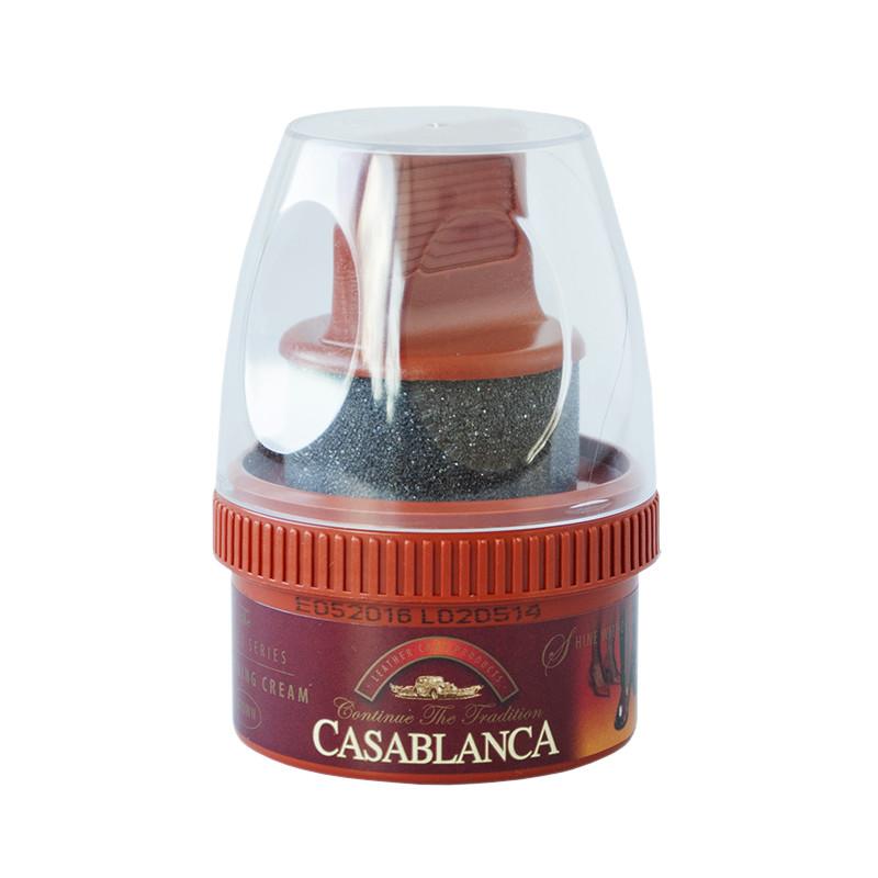 Крем-самоблеск для обуви Casablanca, коричневый