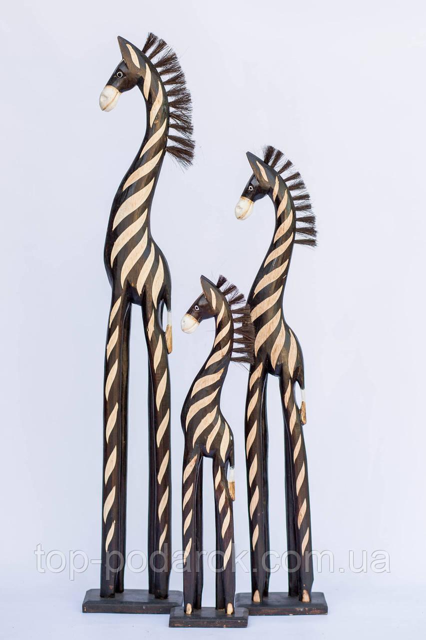 Статуэтка деревянная зебра высота 100 см