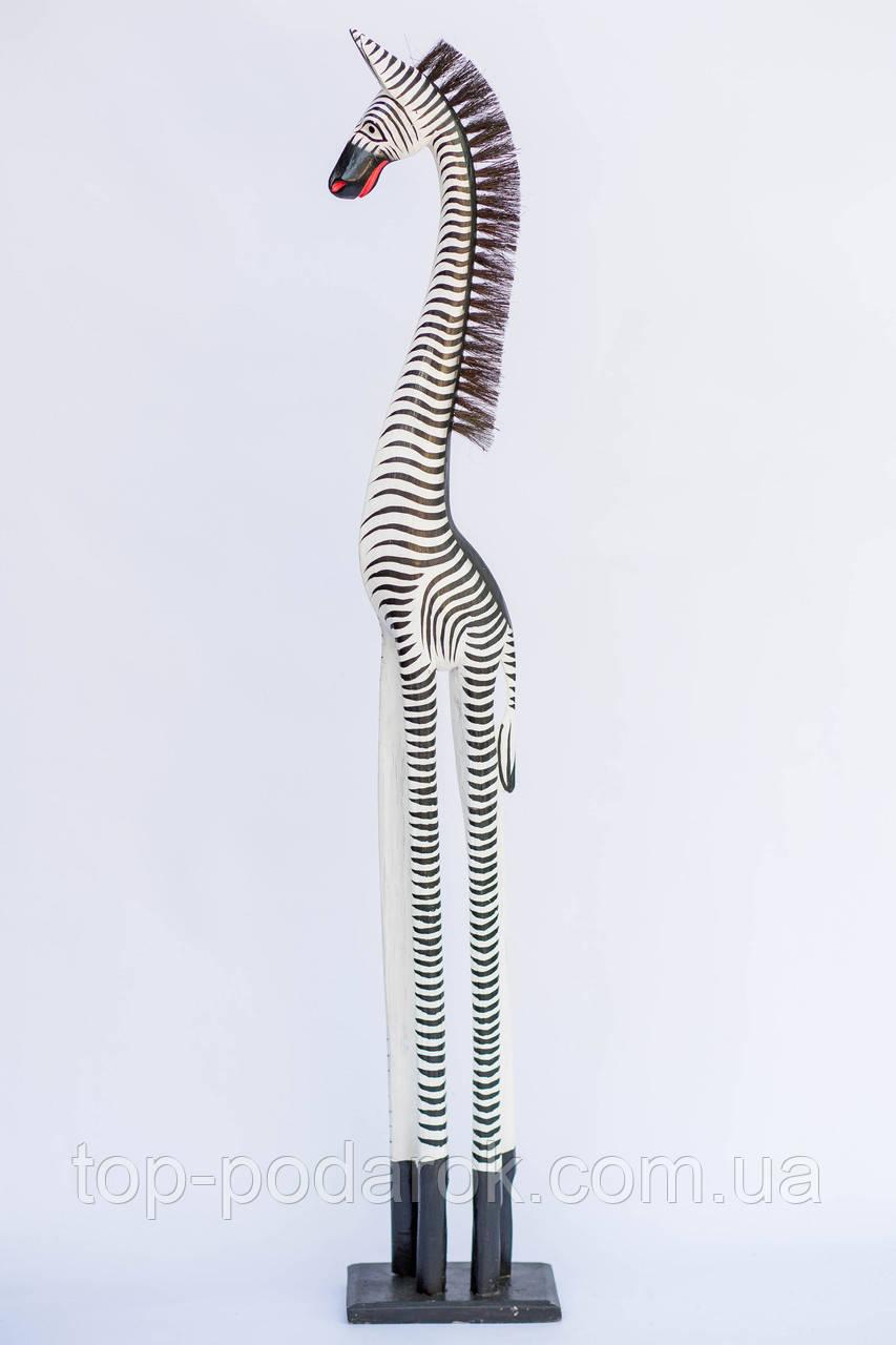 Статуэтка деревянная зебра высота 150 см
