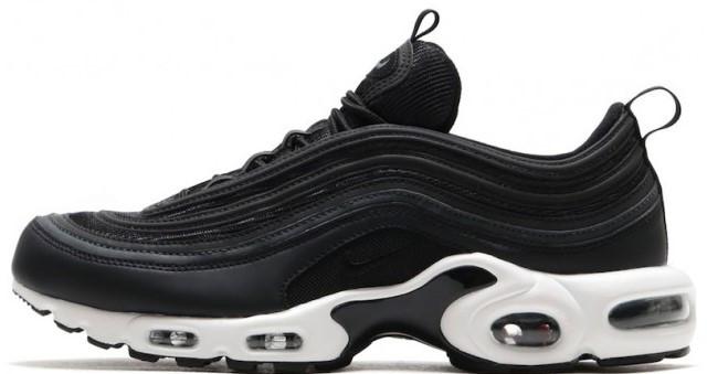 "Мужские кроссовки Nike Air Max 97 Plus ""Black/White"" (Найк) черные"