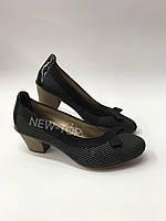 Туфли на удобном каблуке Rieker 45070-00