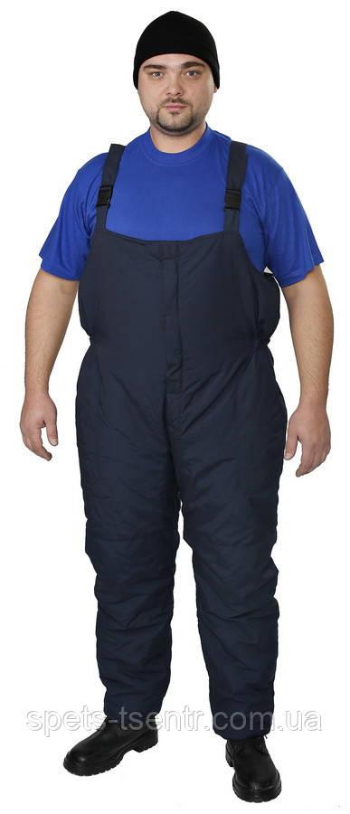 Полукомбинезон рабочий утепленный, ткань осло, темно-синий