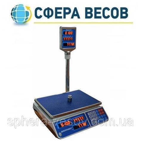 Весы торговые Днепровес F902H-30EL (30 кг), фото 2