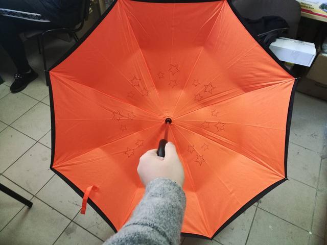"""Up-brella - зонт """"наоборот"""" (кислотный оранжевый) - фото 1"""