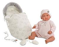 Кукла Llorens 84424 Младенец Беба Ллоренс со спальником 44 см , фото 1