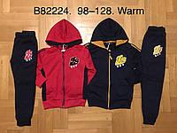 Трикотажный утепленный костюм 2 в 1 для мальчика оптом, Grace, 98-128 см,  № B82224, фото 1