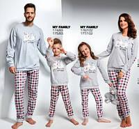 Пижамы в стиле Family Look Cornette (Корнет) MУ FAMILY b9bf09d8d88d2