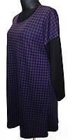 Женское платье-туника,со спущенным комбинированным рукавом, фото 1