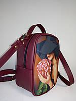 Сумка-рюкзак для вышивки бисером  М 1 С 1 Бордо