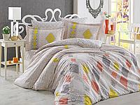 Комплект постельного белья  Hobby поплин размер евро Rhapsody Кремовый