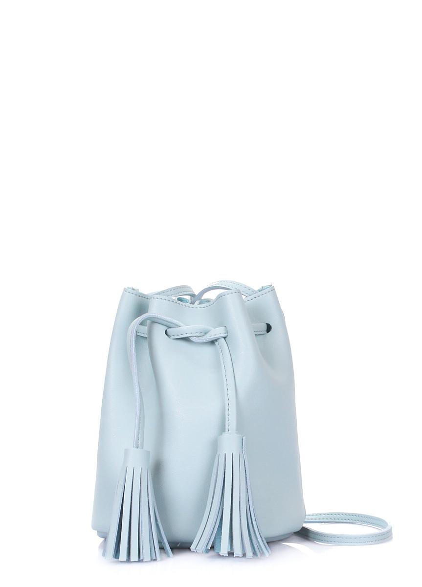 Голубая сумка на завязках