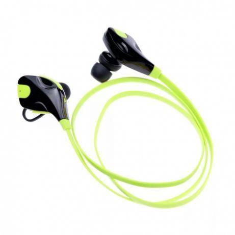 Беспроводные Bluetooth наушники гарнитура для спорта и отдыха салатовые