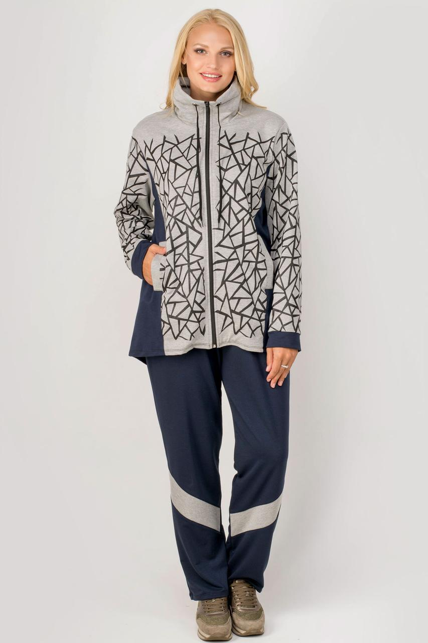 """Спортивный женский костюм """"Айден Грей"""" размеры 54-64"""