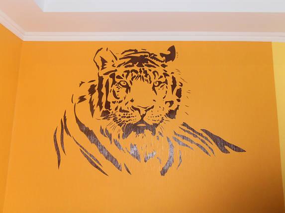 Трафарет для покраски, Тигр, одноразовый из самоклеющей пленки в трех размерах, фото 2