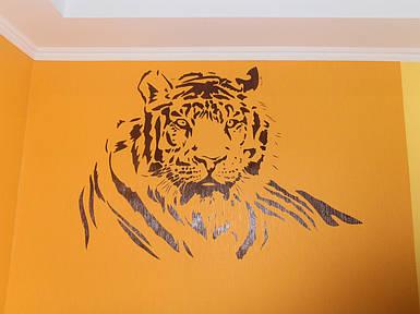 Трафарет для покраски, Тигр, одноразовый из самоклеющей пленки в трех размерах