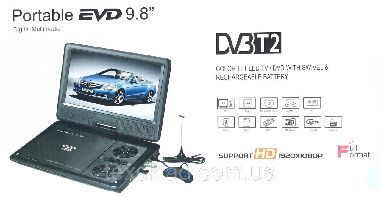 """Портативний ДВД плеєр з цыфровим T2 тюнером Opera NS-958 (9""""/USB/ТБ/T2)"""