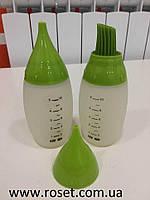 Комплект силиконовых мерных бутылочек для соусов Chef Bottle Kit