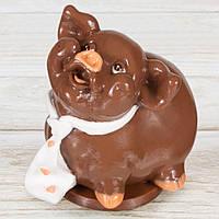 """Шоколадная фигура """"Свинка Мальчик"""" (молочный) КЛАССИЧЕСКОЕ сырье. Размер:115х95х125мм, вес 680г, фото 1"""