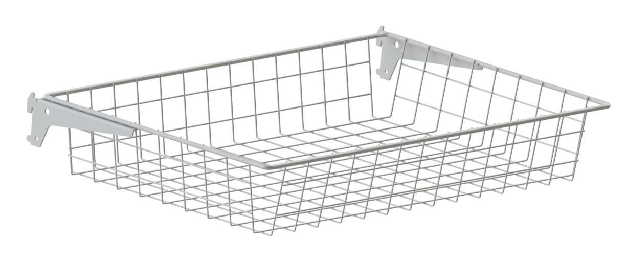 Ящик проволочный Кольчуга Air Basket (консольная система хранения) 600*400*100 мм Белый