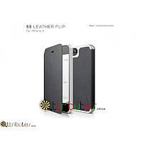 Чехол iPhone 5 & 5s elago S5 Genuine leather pocket black-white (ELS5LE-FL-JIN-RT)