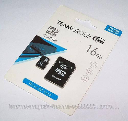 Карта памяти microSDHC TeamGroup 16Gb class 10 (adapter SD)